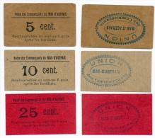 MAS D'AGENAIS //UNION DES COMMERCANTS //  5 & 10 & 25 Centimes - Bons & Nécessité