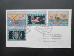 Ozeanien Marshall Islands 1984. Erste Eigene Briefmarken! FDC Echt Gelaufen Nach Burghausen. - Marshallinseln