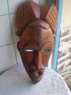 Masque Africain En Bois - Afrikaanse Kunst