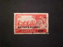 STAMPS QATAR 1957 Surcharged With Thick Bold Letters, Bars Close Together - Qatar