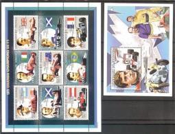 SENEGAL  Sport Cars(Ferrari) Sheetlet Of 9 Stamps+S/Sheet    MNH - Stamps