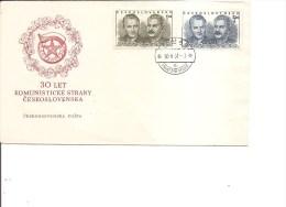 Tchécoslovaquie -Staline ( FDC De 1951 à Voir) - FDC