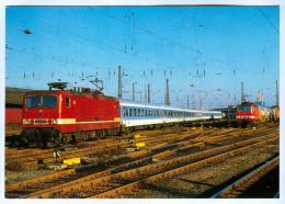 AK Eisenbahn Deutschland Leipzig Hauptbahnhof Hbf Elektrolok 243 014-8 IR 403 DB REIJU Sachsen Germany VEB Lokomotivbau - Eisenbahnen