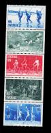 Svezia Sweden Schweden Suede 1977 Popular Sports 5v Se Tenant Complete Set   ** MNH - Svezia