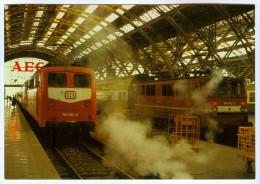 AK Eisenbahn Deutschland Leipzig Hauptbahnhof Hbf Lok 150 001-6 109 042-2 REIJU Deutsche Bundesbahn Reichsbahn Germany - Eisenbahnen