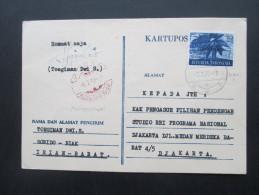 Indonesien 1970 Provinz Irian Barat Michel Nr. 5 West Irian. Bedarf!! Biak. Marinepoststempel Posal.Seltene Verwendung!! - Indonesien