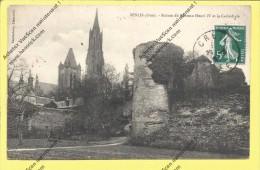 CPA 60 Senlis Ruines Du Château Henri IV Et La Cathédrale Vue Peu Courante - Senlis
