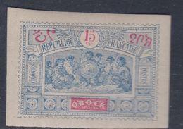Obock N° 52 X  Groupe De Guerriers Somalis : 15 C. Bleu Et Rouge  Trace De Charnière Sinon TB - Unused Stamps