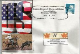 USA. Célèbre Houston Rodeo, Obliteration En Forme De Lasso, Lettre Adressée Au Connecticut. - Horses