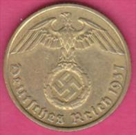 ALLEMAGNE . 10 REICHSPFENNIG 1937 F (STUTGART)