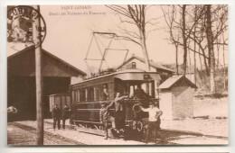 Saint Gobain - Depart Des Voitures  Du Tramway  -  Belle Photo Annee 1960 / 1970  **** - Unclassified