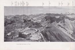 Vaud - Rochers De Naye - Panorama Pris Du Sommet ; éd. Charnus Frères Genève - Dépliants Touristiques
