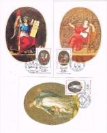 16001. Lote 3 Maximas, Masimun Card France, Liberte, Egalite Et Fraternité 1989 - Cartas Máxima