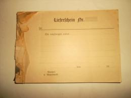 ANCIEN CARNET LIEFERSCHEIN (BORDEREAU DE LIVRAISON)AVEC JOURNAL INTIME D´UN MILITAIRE 39/45.VOIR LES 24 PHOTOS - 1939-45