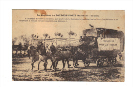 Avis De Transfert Par La Direction Du Fourgon Poste Marseille-Toulon, Attelage Avec Chevaux (15-3931) - Poste & Facteurs