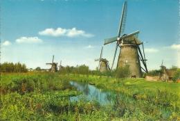 Nederland Kinderdijk / Format 21x15cm / Moulin Molen Mill - Pays-Bas