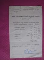 SESSION 1937 BREVET ENSEIGNEMENT PRIMAIRE SUPERIEUR ASPIRANTE MERCHADIER MARIE-JEANNE RELEVé NOTES 118.5 SUR 280 > 14/20 - Documents