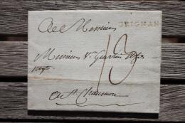 Lettre De 1787 Bien Complète De Texte Avec  Marque Postale De Grignan Pour Saint-Chamond - 1701-1800: Precursori XVIII
