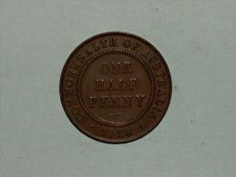 Australie ONE HALF 1/2 PENNY 1928 Australia - Monnaie Pré-décimale (1910-1965)