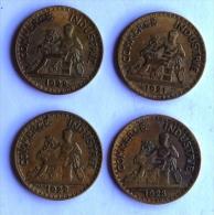 LOT DE 4 Pièces De 2F CHAMBRES DE COMMERCE 1921-22x2-23 - I. 2 Francs