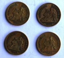 LOT DE 4 Pièces De 2F CHAMBRES DE COMMERCE 1921x2-22-23 - I. 2 Francs