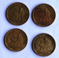 LOT DE 4 Pièces De 1F CHAMBRES DE COMMERCE 1921x3-23 - H. 1 Franc