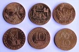 LOT 6 Pièces  1982-83-84-85-87 - K. 10 Francs