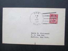 USA 1931 Schiffspostbrief USS Guam Aus Shanghai / China. Nach New York. Interessanter Beleg - Guam