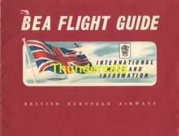 VINTAGE FOLDER MAGAZINE BEA FLIGHT GUIDE BRITISCH EUROPEAN AIRWAYS PUB ADVERTISING BP DUNLOP PETROLEUM - Vluchtmagazines