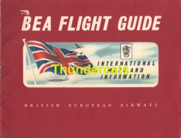 VINTAGE FOLDER MAGAZINE BEA FLIGHT GUIDE BRITISCH EUROPEAN AIRWAYS PUB ADVERTISING BP DUNLOP PETROLEUM - Magazines Inflight
