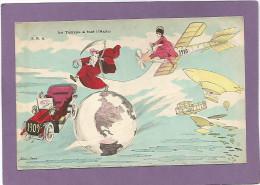 Xavier SAGER / Le Temps à Tué L'Auto / 1910 / Avions / Dirigeable. - Sager, Xavier