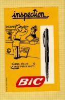 BUVARD : Un Stylo BIC Inspection  Couleur Jaune - Papeterie