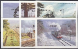 Liberia MiNr. Bl. 142/47 ** Lokomotiven - Liberia