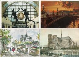 75 - PARIS . 10 CARTES POSTALES . SCANS - Réf. N°12468 - - France