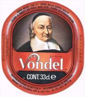 (Italië) Vondel (tht 92) 33cl Br. Riva, Dentergem  Bieretiket Voor De Italiaanse Markt -  étiquette De Bière - Label - Bière