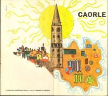Very Old Depliant Prospekt Caorle Italia Italy  Art Deco Many Famous Pictures 5 Harmo Laporelo Sites - Pubblicitari