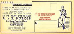 In De 100.000 Kostumen A. & B. Dubois - Textile & Vestimentaire