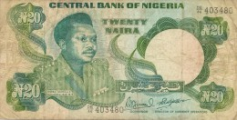 Banconota NIGERIA  Da 20 Naire - Nigeria