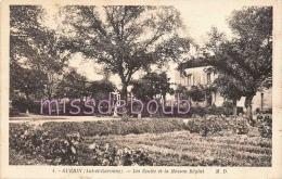47 - GUERIN - Les écoles Et La Maison Reglat -    2 Scans - France