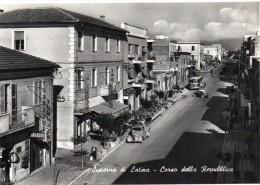 Lazio-latina-cisterna Di Latina Corso Della Repubblica Veduta Particolare Animatissima - Other Cities