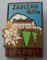 VELEBIT - ZAVIZAN - Croatia Old Pin Badge Climbing Mountaineering Alpinisme Bergsteigen Alpinismo Arrampicata C - Alpinism, Mountaineering