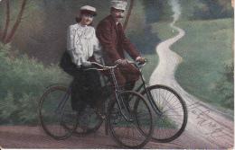 AK Mann Und Frau Auf Fahrrädern - 1908  (20531) - Radsport