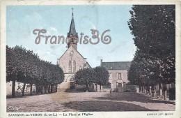 (37) Savigny En Véron - La Place Et L'Eglise - 2 SCANS - France