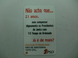 Politique Politic Politico Partido Social Democrata Torres Vedras Portugal Portuguese Pocket Calendar 1998 - Calendriers