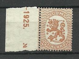FINLAND FINNLAND 1929 Michel 114 X MNH - Finland
