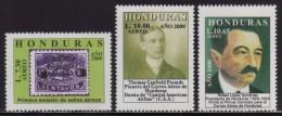Honduras, Series Airmail Anniversary, 2000, Rafael Lopez Gutierrez President Of Honduras 1920-24, Scott C1075-C1077, MNH - Honduras