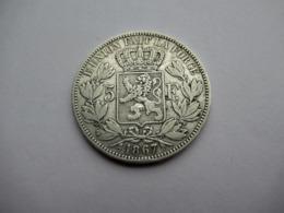 België 5 Frank 1867 (met Punt Na F) - 1865-1909: Leopold II