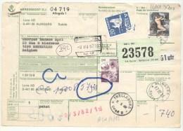 066 ZWEDEN Spoorwegen Document  Stempel Met Machinestempel Stempel ALINGSAS  TRELLEBORG - Suède