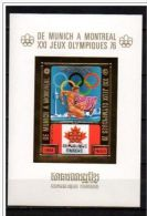 Cambodia, Cambodge, 1975, Olympic Summer Games Montreal 1976, MNH Imperf Gold Foil, Michel Block 81B - Zomer 1976: Montreal