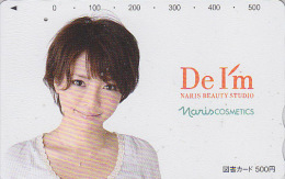 Carte Prépayée Japon - FEMME - GIRL Japan Prepaid Card - Frau Tosho Karte / NARIM COSMETICS Parfum -  2117 - Parfum